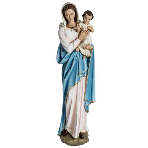 Virgen con el niño para bajorrelieve 60 cm. fibra de vidrio 1