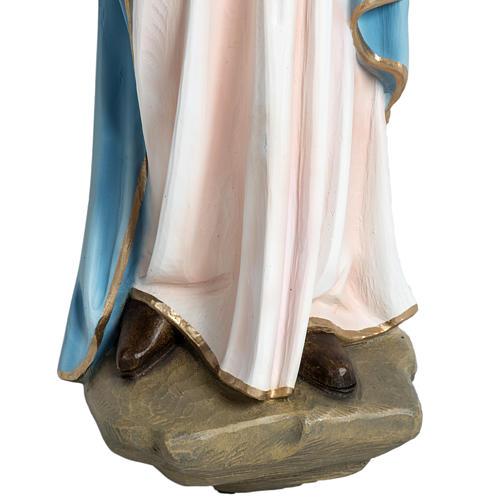 Virgen con el niño para bajorrelieve 60 cm. fibra de vidrio 3