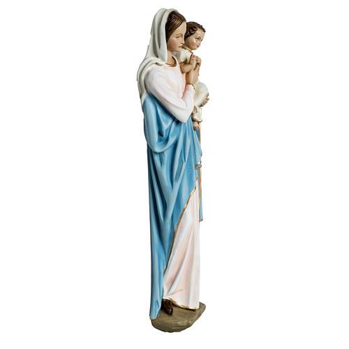Virgen con el niño para bajorrelieve 60 cm. fibra de vidrio 8