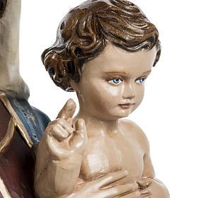 Vierge à l'enfant 60 cm fibre de verre veste rouge s5