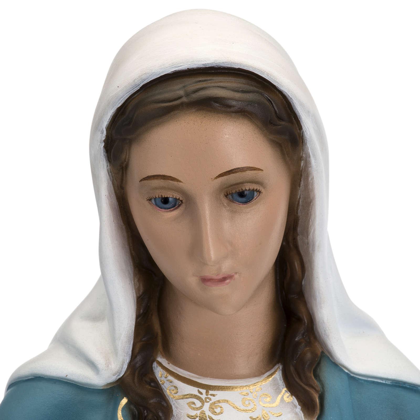 Statua Immacolata 60 cm Landi vetroresina occhi cristallo PER ESTERNO 4