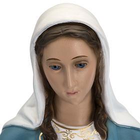 Statua Immacolata 60 cm Landi vetroresina occhi cristallo PER ESTERNO s2