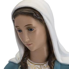 Statua Immacolata 60 cm Landi vetroresina occhi cristallo PER ESTERNO s8