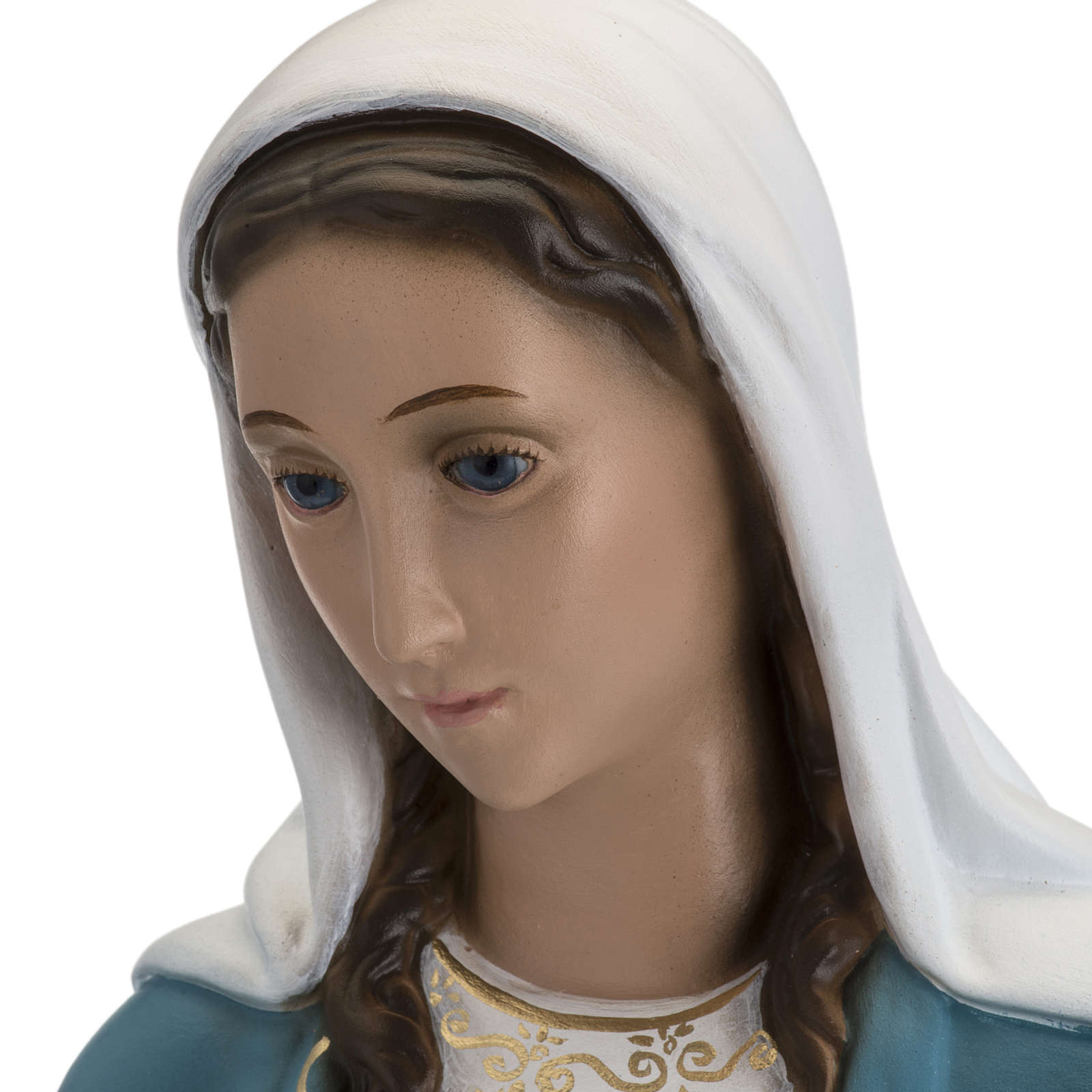 Immaculate Virgin Mary statue in fiberglass, crystal eyes, 60cm 4