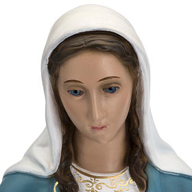 Immaculate Virgin Mary statue in fiberglass, crystal eyes, 60cm s2
