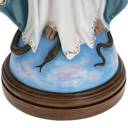 Immaculate Virgin Mary statue in fiberglass, crystal eyes, 60cm 3
