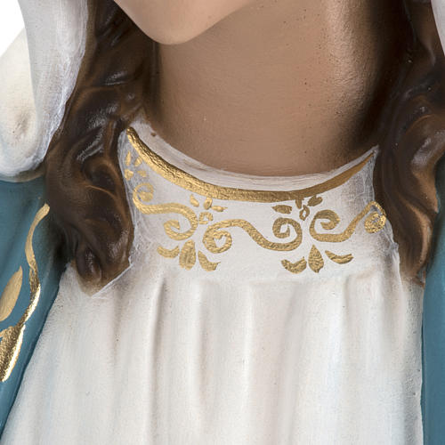 Immaculate Virgin Mary statue in fiberglass, crystal eyes, 60cm 9