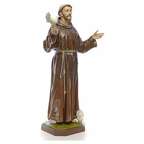 Saint Francis statue in fiberglass 170cm for outdoor use s4