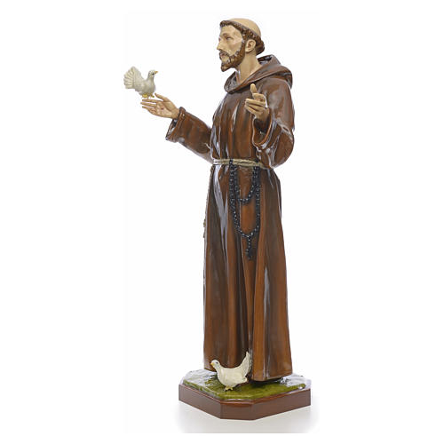 Saint Francis statue in fiberglass 170cm for outdoor use 2