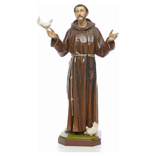 Saint Francis statue in fiberglass 170cm for outdoor use 1
