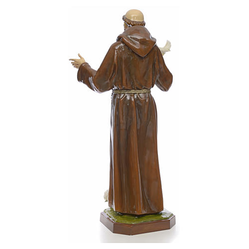 Saint Francis statue in fiberglass 170cm for outdoor use 3