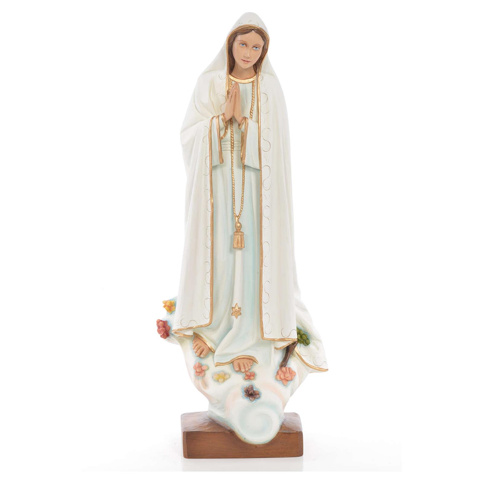 Notre Dame de Fatima 60 cm fibre de verre colorée 4