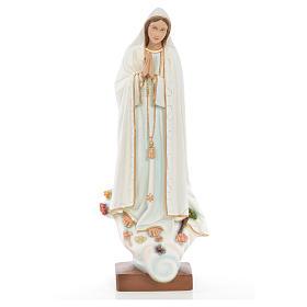Notre Dame de Fatima 60 cm fibre de verre colorée s1