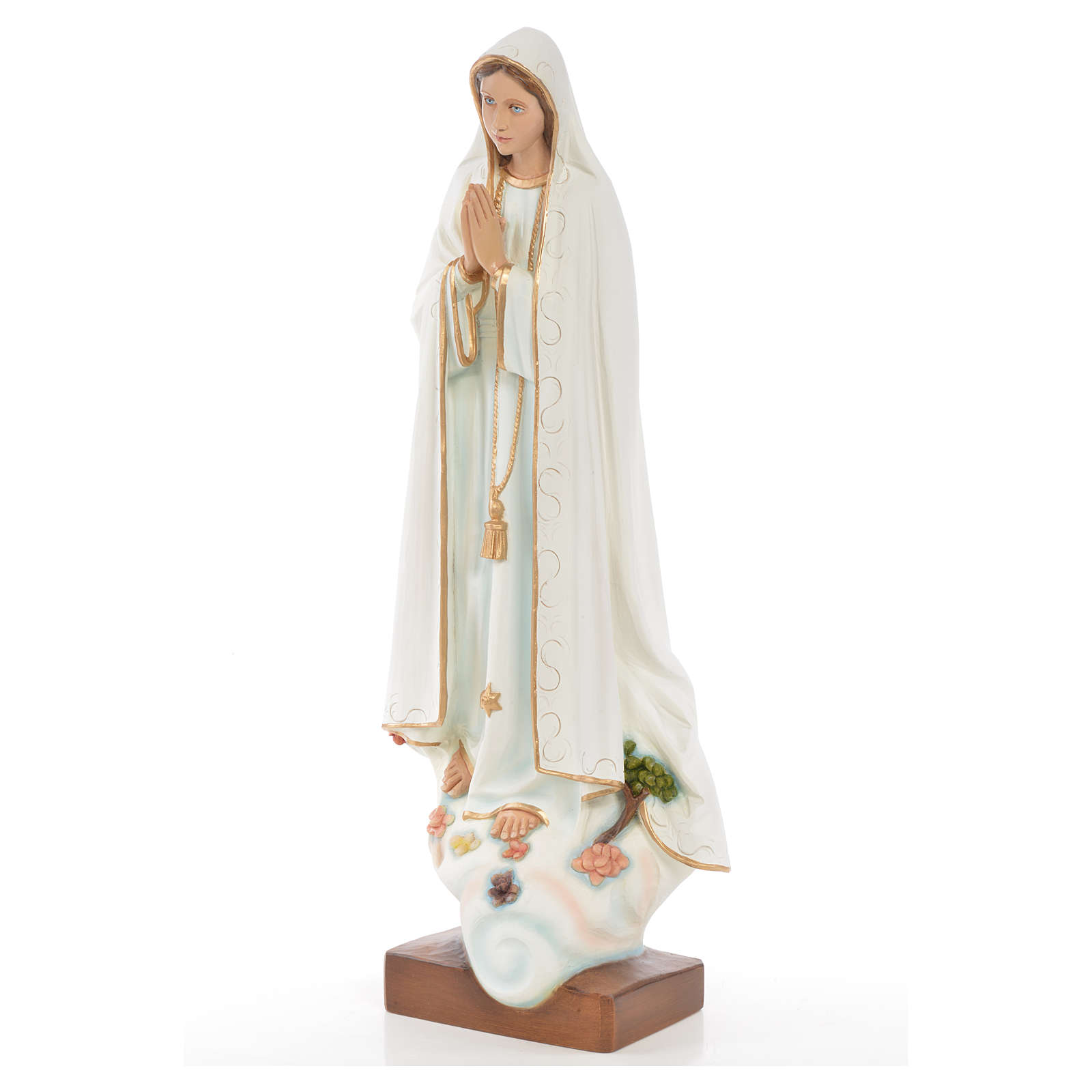 Our Lady of Fatima statue in painted fiberglass 60cm 4