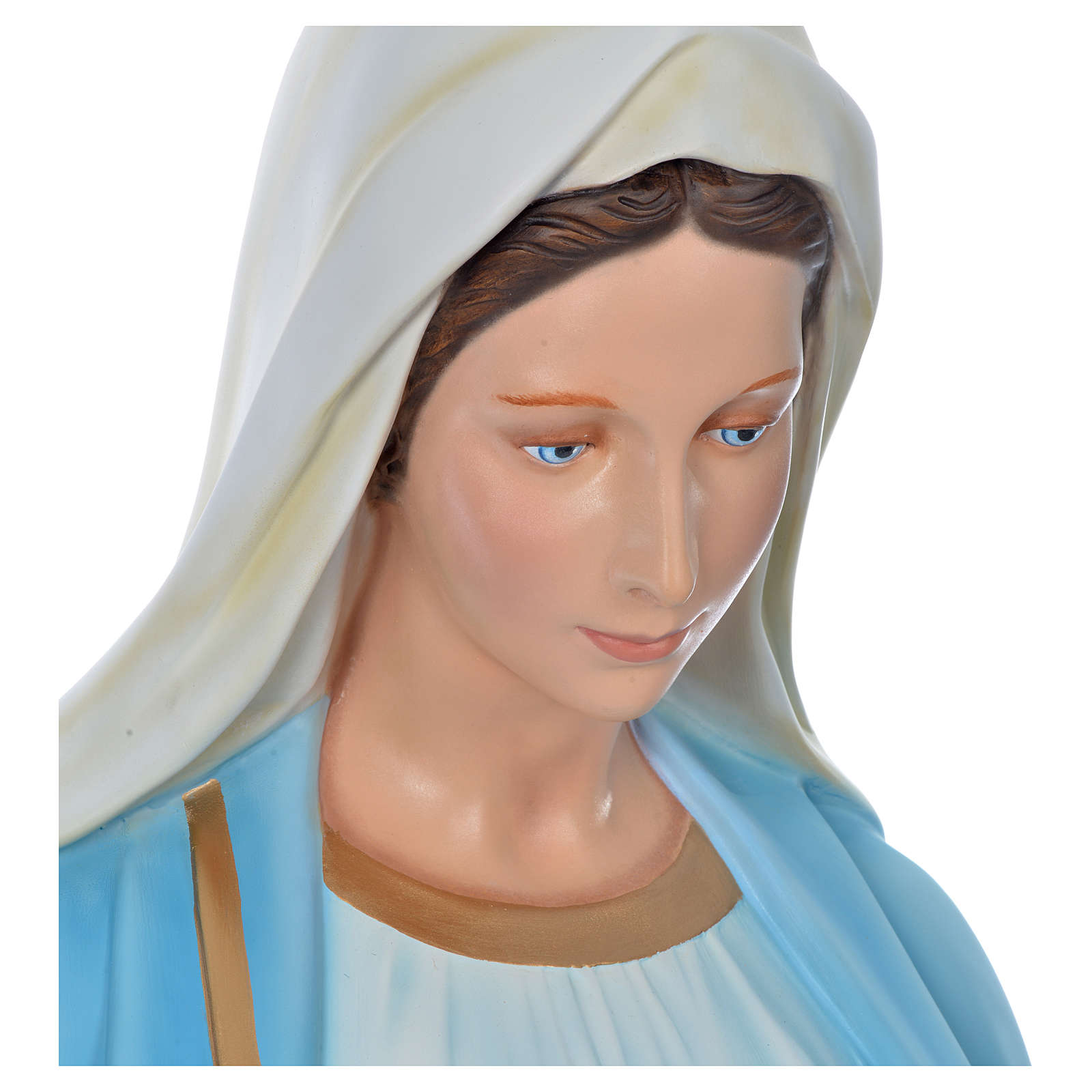 Sacro Cuore Gesù 130 cm vetroresina colorata per esterno 4