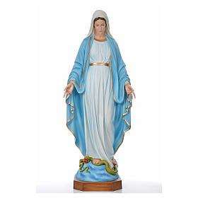 Sacro Cuore Gesù 130 cm vetroresina colorata per esterno s5
