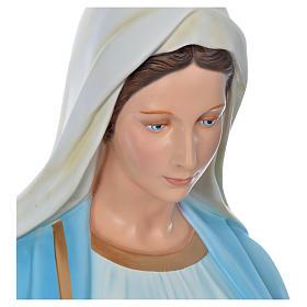 Sacro Cuore Gesù 130 cm vetroresina colorata per esterno s9
