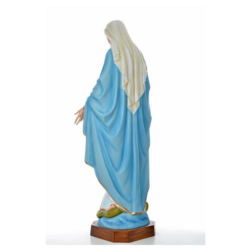 Sacro Cuore Gesù 130 cm vetroresina colorata per esterno 7