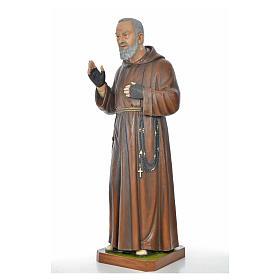 Père Pio en fibre de verre peinte 175 cm s9