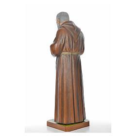 Père Pio en fibre de verre peinte 175 cm s10