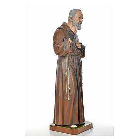 Père Pio en fibre de verre peinte 175 cm s11