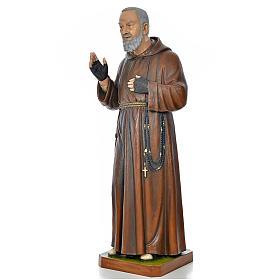 Père Pio en fibre de verre peinte 175 cm s2