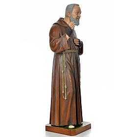 Père Pio en fibre de verre peinte 175 cm s4