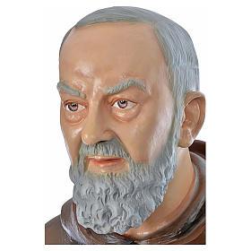 Père Pio en fibre de verre peinte 175 cm s7