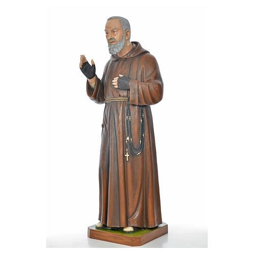 Père Pio en fibre de verre peinte 175 cm 9