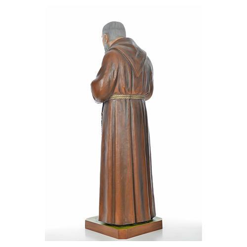 Père Pio en fibre de verre peinte 175 cm 10