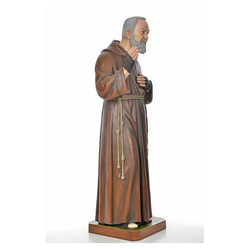 Père Pio en fibre de verre peinte 175 cm 11
