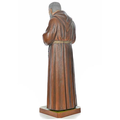 Père Pio en fibre de verre peinte 175 cm 3