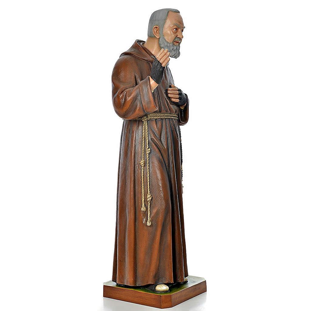 Padre Pio of Pietralcina statue in painted fiberglass 175cm 4