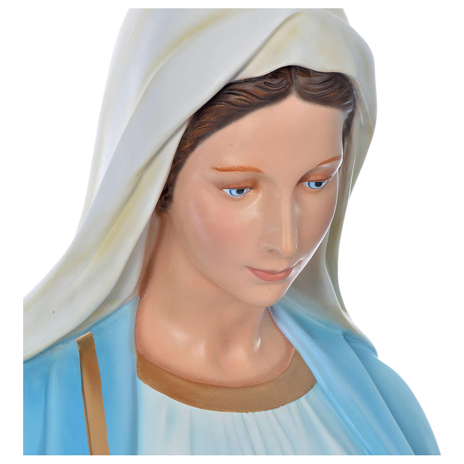 Vierge Immaculée 180 cm fibre de verre colorée 4