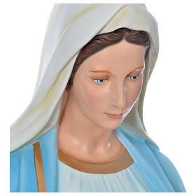 Vierge Immaculée 180 cm fibre de verre colorée s4