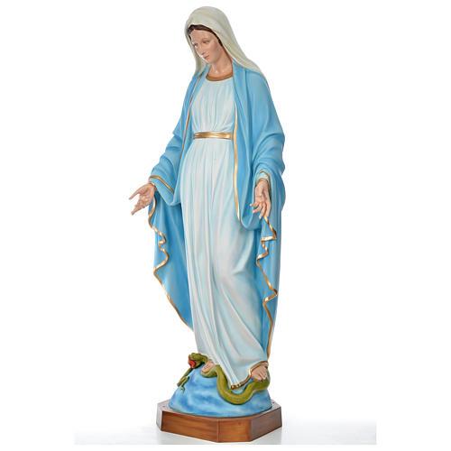 Vierge Immaculée 180 cm fibre de verre colorée 3