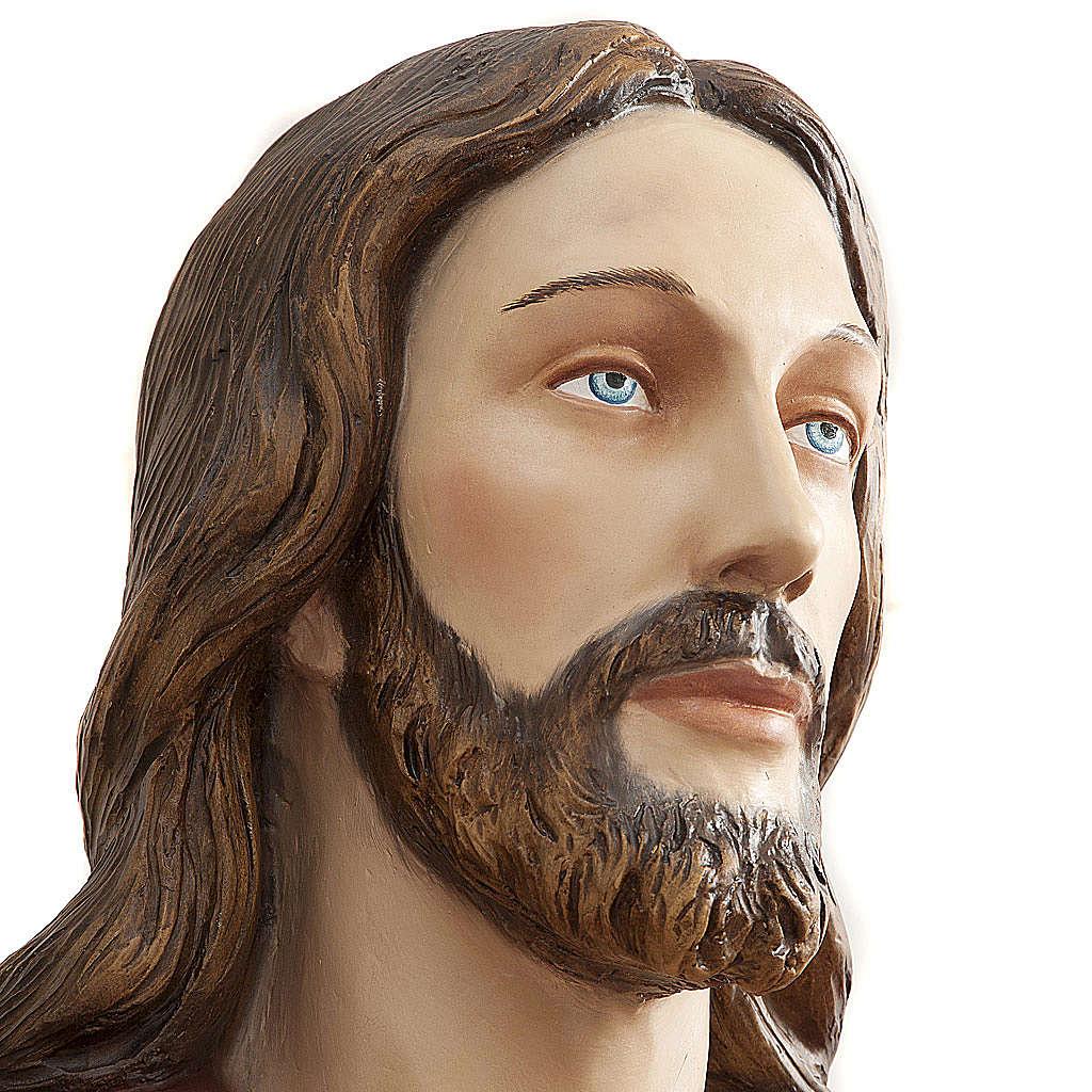 Christ rédempteur 200 cm fibre de verre 4