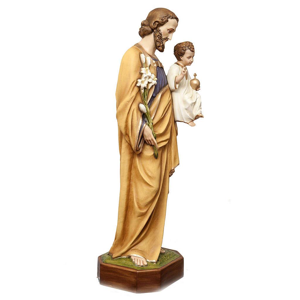 San Giuseppe con bimbo 130 cm vetroresina dipinta 4
