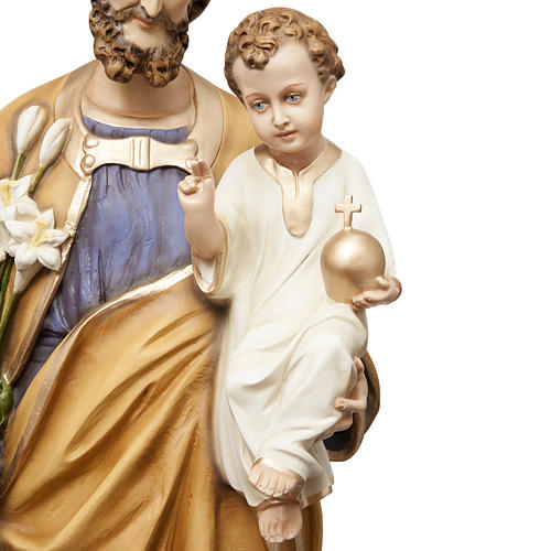 San Giuseppe con bimbo 130 cm vetroresina dipinta 2