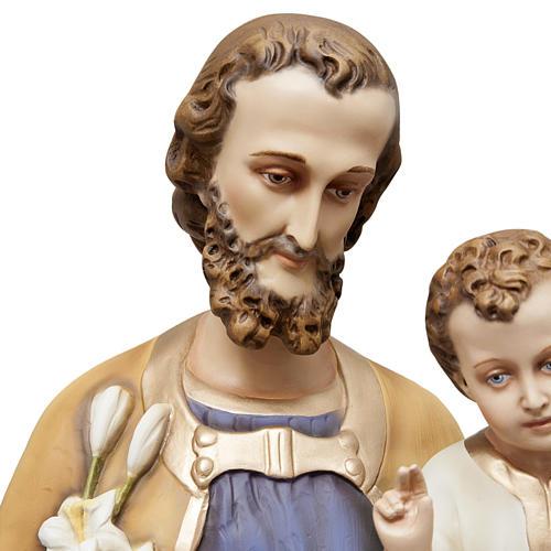 San Giuseppe con bimbo 130 cm vetroresina dipinta 3