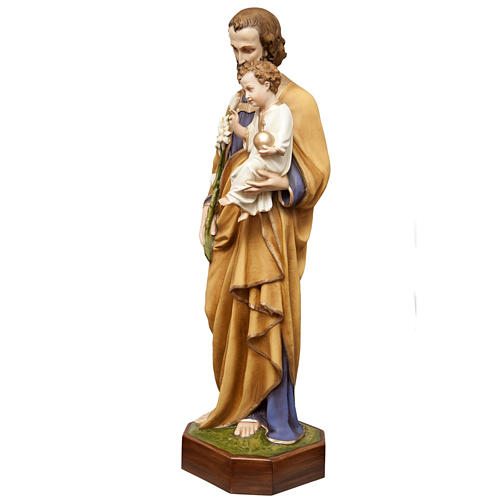 San Giuseppe con bimbo 130 cm vetroresina dipinta 5