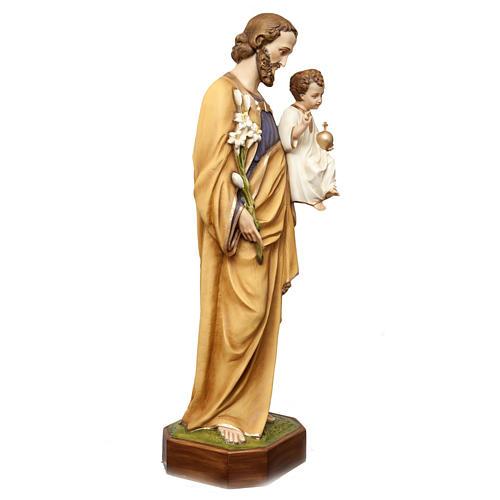 San Giuseppe con bimbo 130 cm vetroresina dipinta 6
