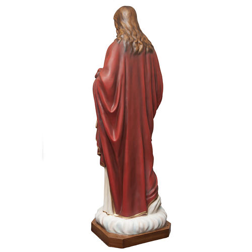 Sacred Heart of Jesus statue in painted fiberglass 165cm 6