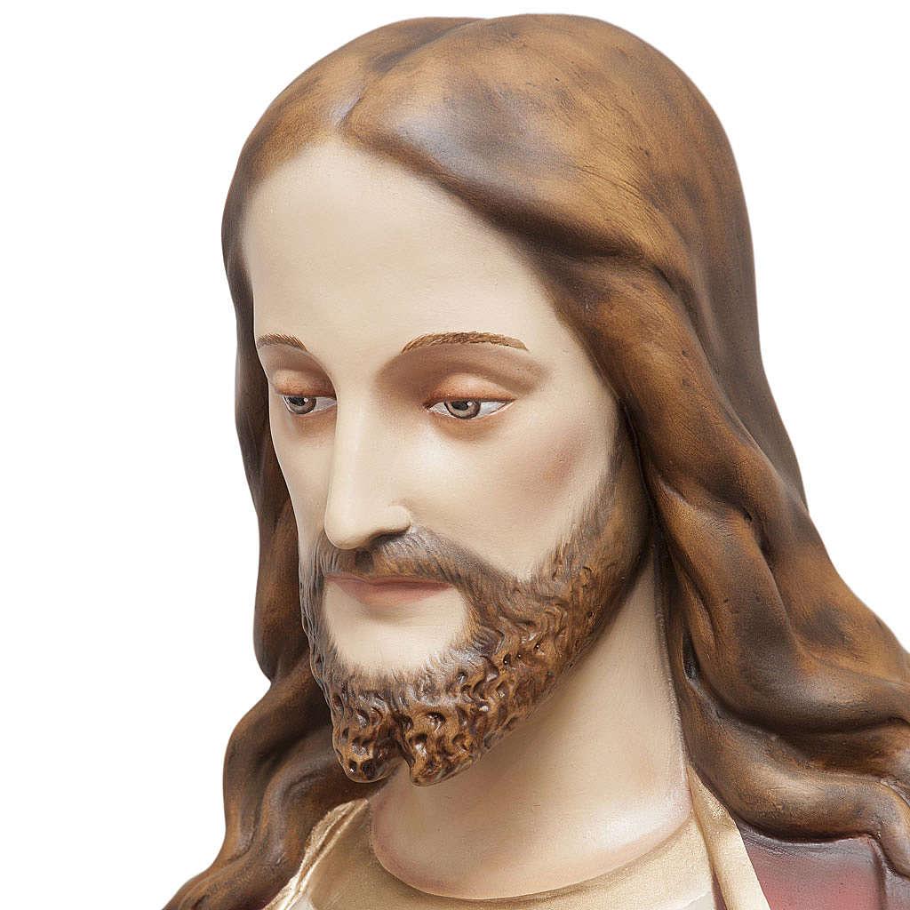 Coração Sagrado Jesus 165 cm fibra de vidro pintada 4