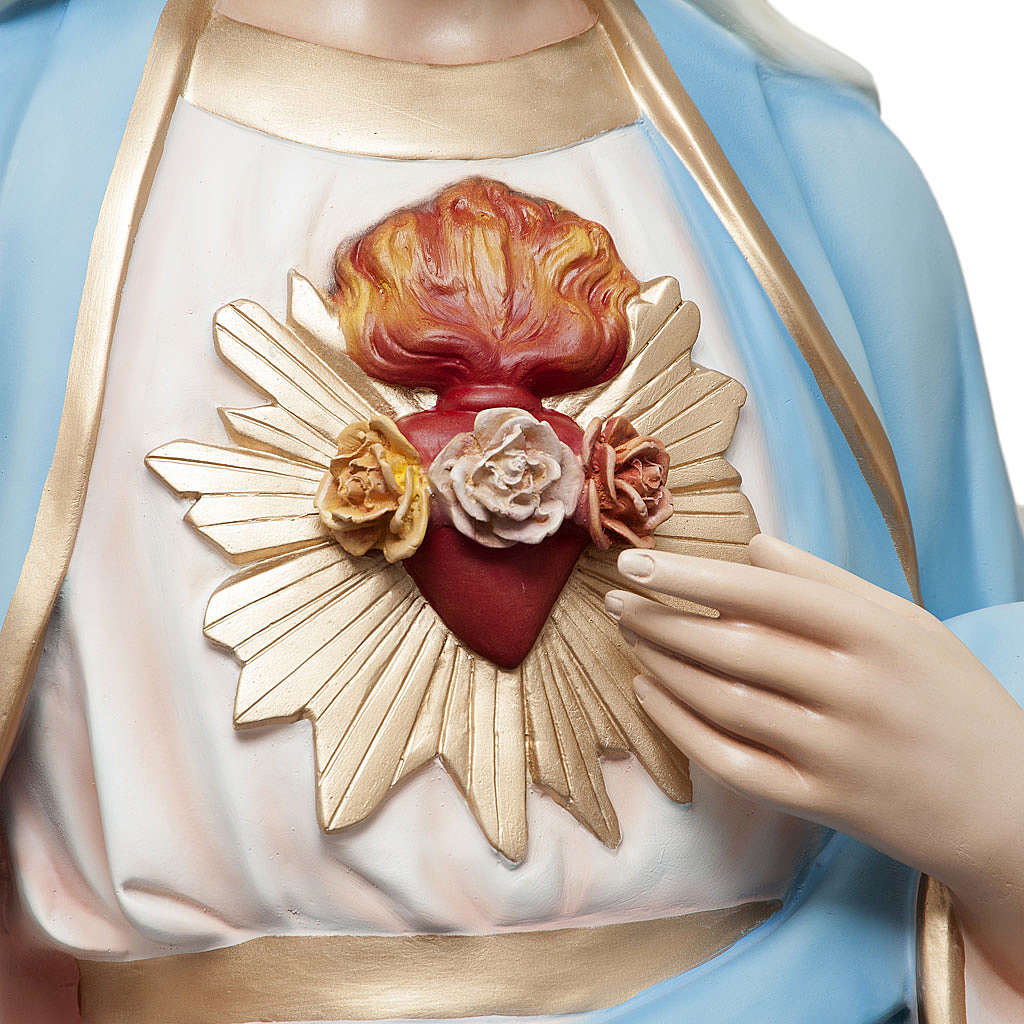 Sacred Heart of Mary statue in painted fiberglass 165cm 4