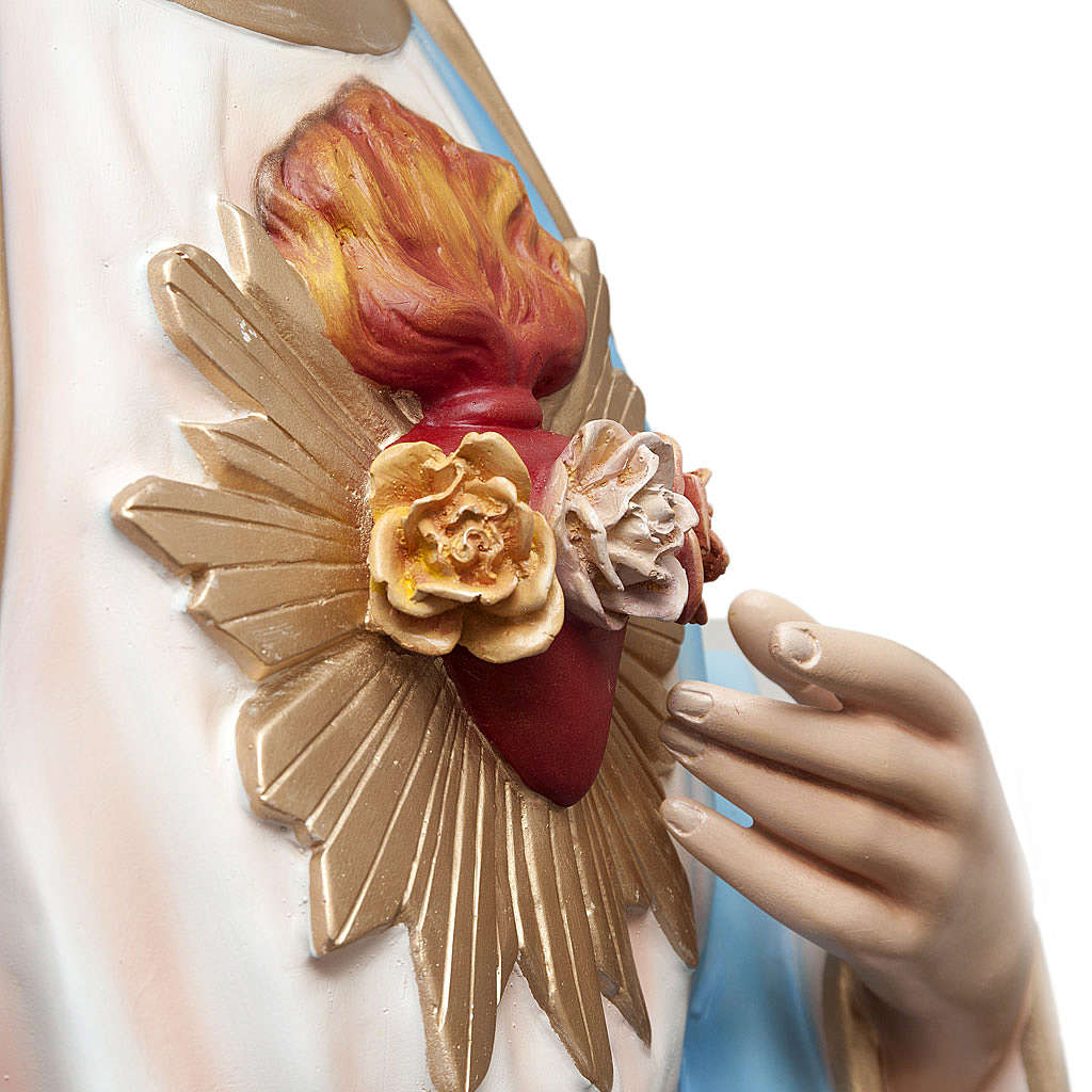 Sacré coeur de Marie 165 cm fibre de verre peinte 4