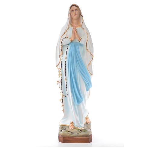 Notre-Dame de Lourdes fibre de verre peinte 100cm