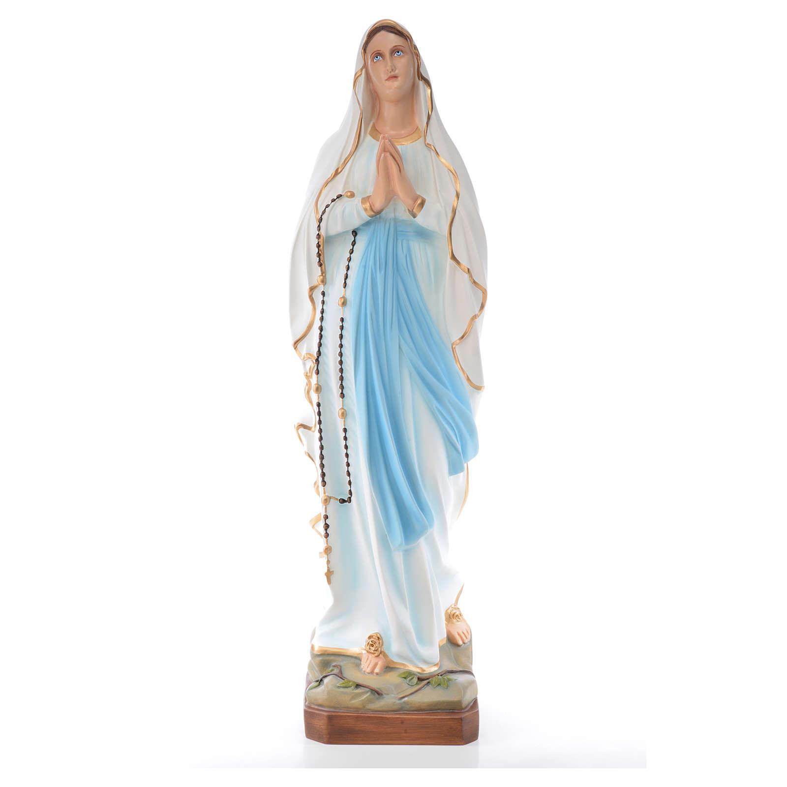 Madonna di Lourdes 100 cm vetroresina dipinta 4