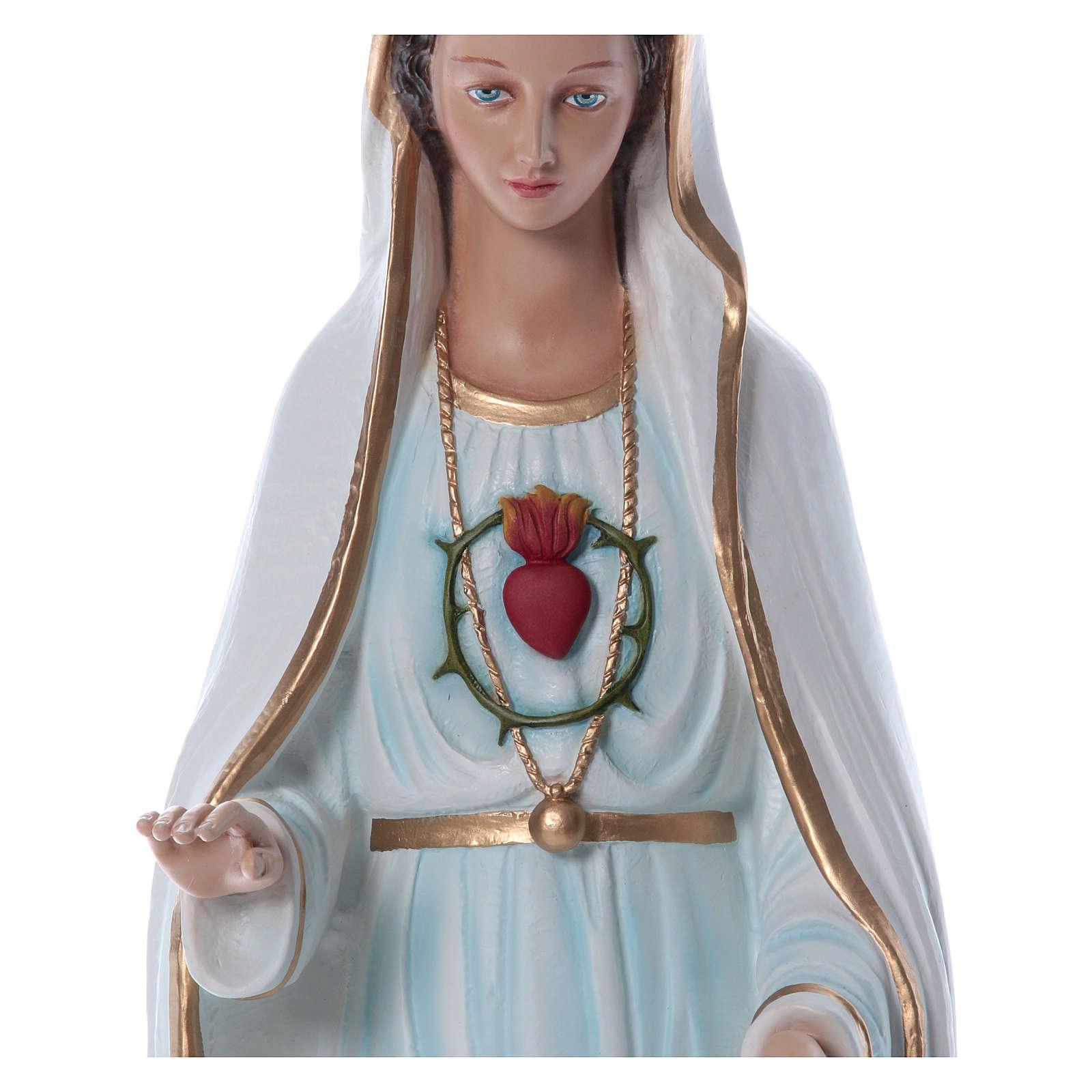 Notre-Dame de Fatima fibre de verre colorée 100cm 4