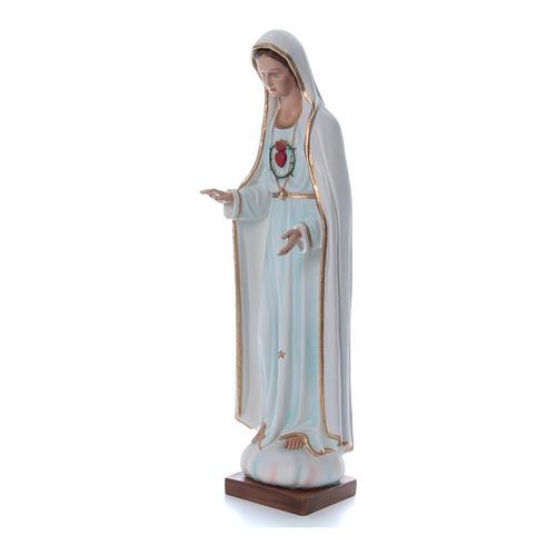 Nossa Senhora Fátima 100 cm fibra vidro pintada detalhes dourados